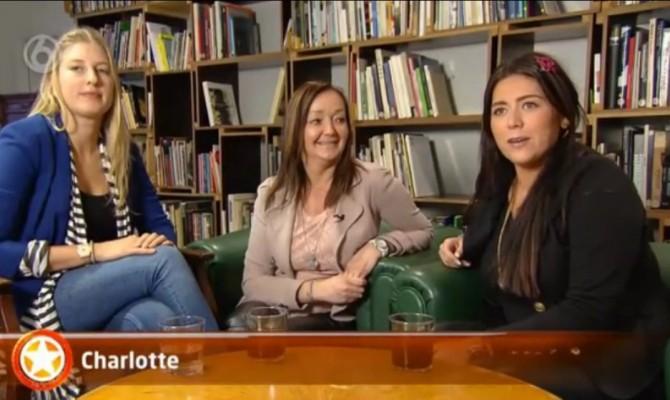 Nicoline, Vanessa en Charlotte in shownieuws