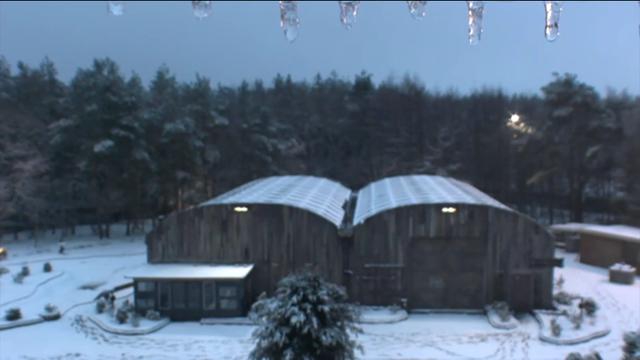 Utopia loods in de sneeuw