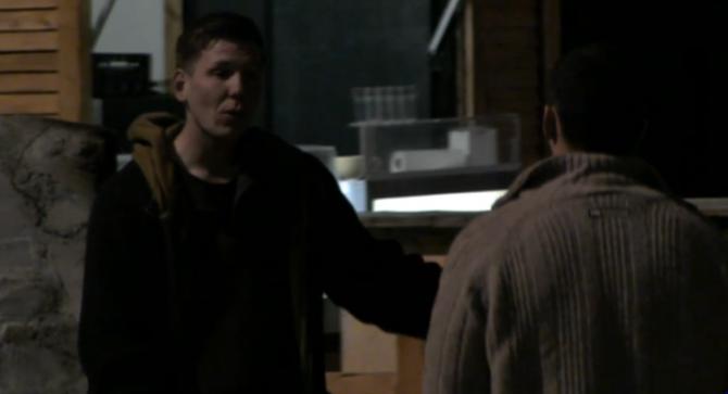 Ivan en Chris in gesprek.