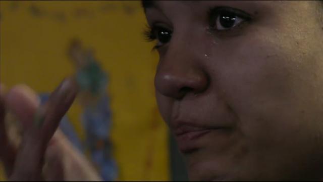 Gaby huilt om inzamelingsactie