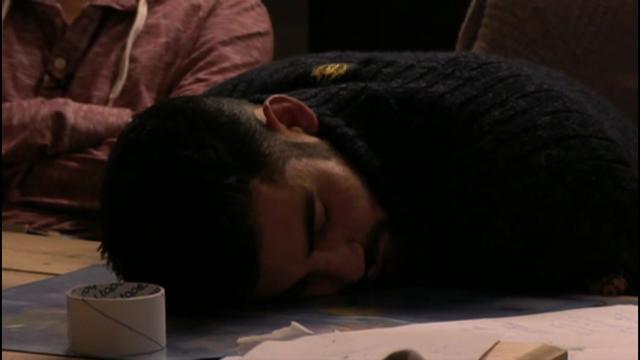 Ivan in slaap gevallen