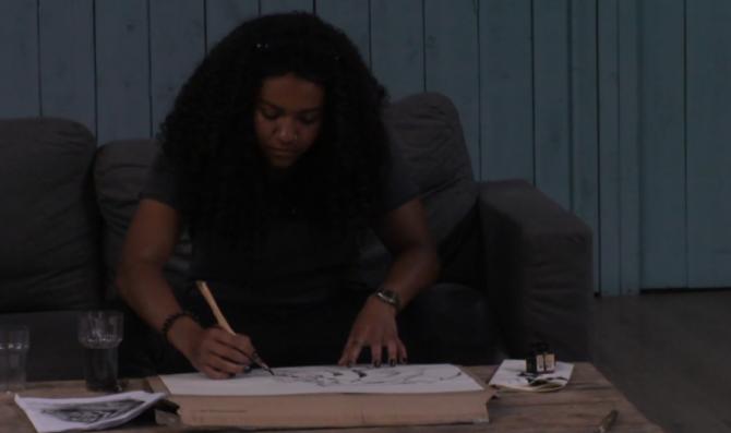 Gaby gaat wat doen met tekenen