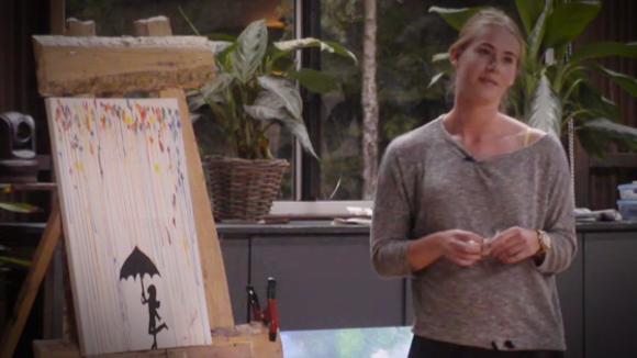 Veertien kunst schilderijen gemaakt door bewoners