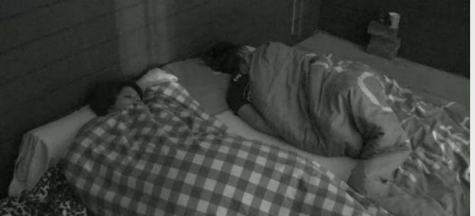 Bas en Ramona sliepen vannacht samen