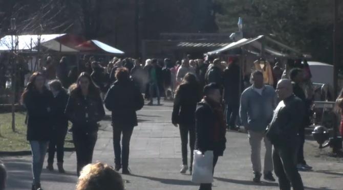 De Utopia markt van eind februari
