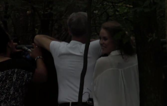Cees ontving familie aan het hek