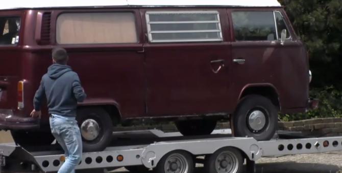 Gert-Jan heeft een volkswagen busje geregeld