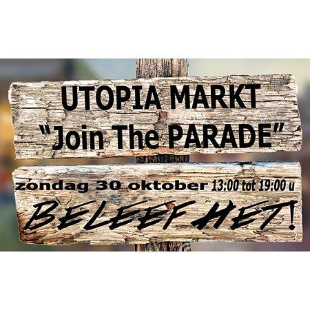 Bewoners druk in de weer voor de Utopia markt