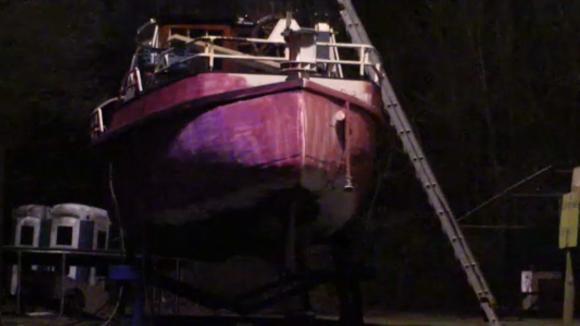De boot van Jessie is knal roze!