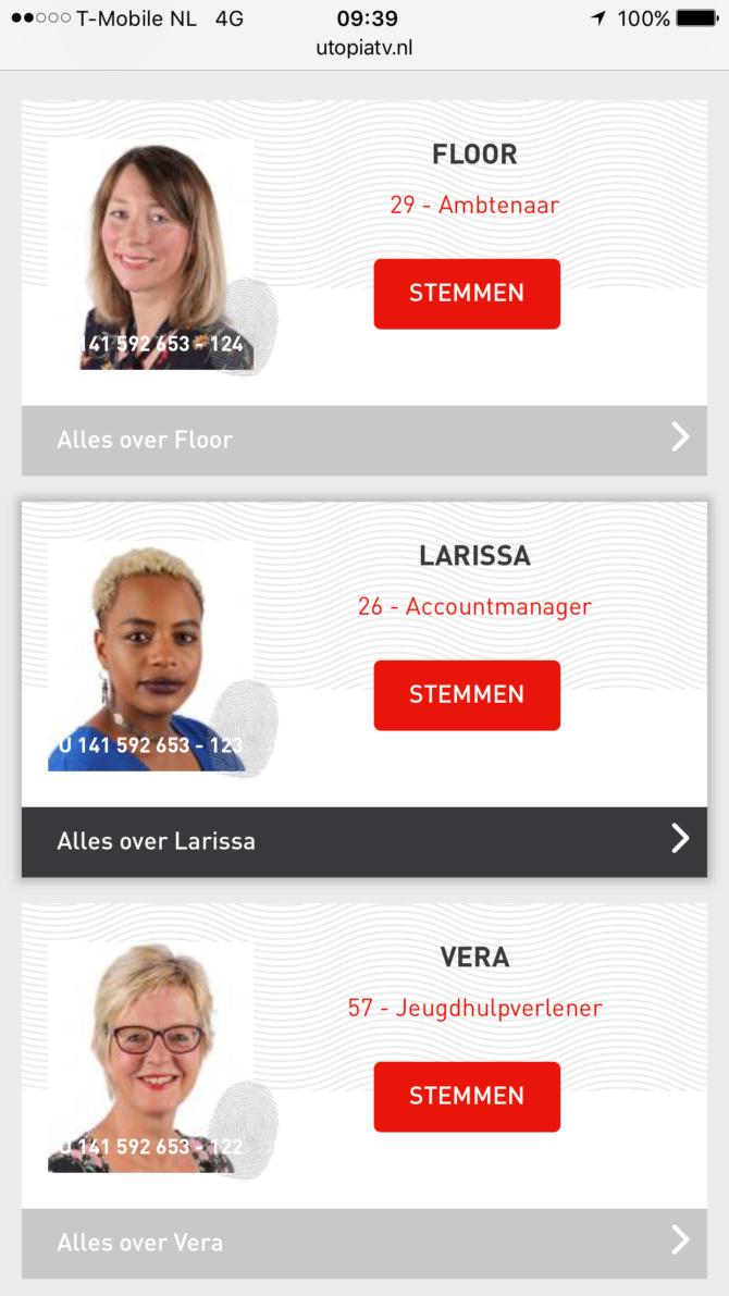 Floor, Vera en Larissa zijn de potentiële bewoners
