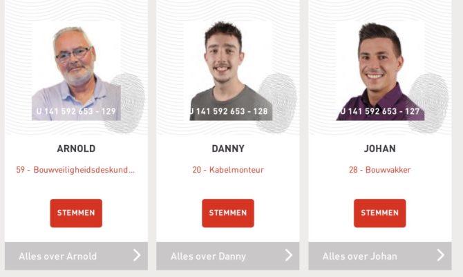 Danny, Arnold en Johan zijn de potentiële bewoners van de maand augustus
