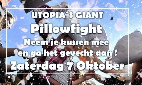 Utopia Giant Pillow fight gaat ondanks het commentaar toch door