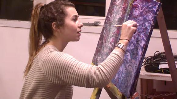 Romy, Beau en Demi proberen dichterbij hun innerlijke kunstenaar naar boven te halen