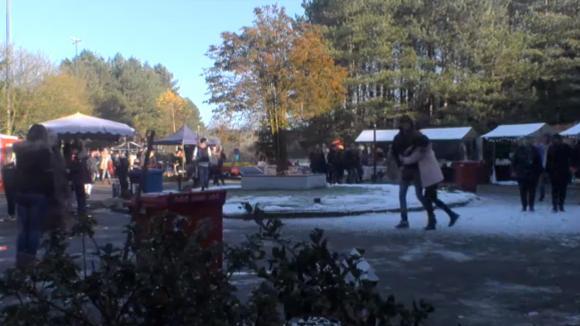 De winter wonderland markt is in volle gang