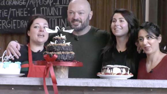 Linda mag de taart voor Baldr zijn trouwdag maken